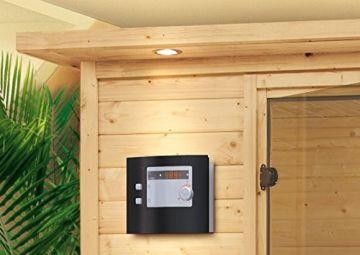 Karibu Sauna Elia mit Dachkranz