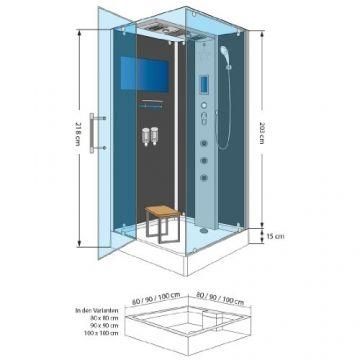 AcquaVapore DTP6038-4302L Dusche Dampf Sauna
