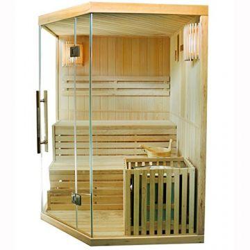 Finnische Sauna Espoo 150 x 150 cm 6 kW - Seitenansicht