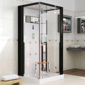 heimsauna kaufen perfect spa ios infrarot dampfsauna dusche. Black Bedroom Furniture Sets. Home Design Ideas